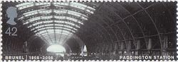 Brunel 42p Stamp (2006) Paddington Station, London