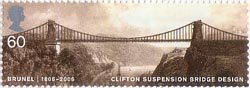 Brunel 60p Stamp (2006) Clifton Suspension Bridge