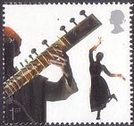 Sounds of Britain 1st Stamp (2006) Bollywood and Bhangra