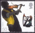 Sounds of Britain 50p Stamp (2006) Celtic influences