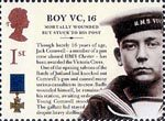 150th Anniversary of the Victoria Cross 1st Stamp (2006) Boy VC, 16 - Jack Cornwell