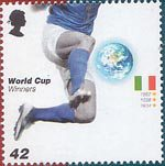 World Cup Winners 42p Stamp (2006) Italy