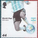World Cup Winners 44p Stamp (2006) Argentina