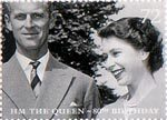 Her Majesty The Queen's 80th Birthday 72p Stamp (2006) 1950