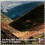 A British Journey - England 1st Stamp (2006) Carding Mill Valley, Shropshire, Heart of England