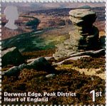 A British Journey - England 1st Stamp (2006) Derwent Edge, Peak District, Heart of England