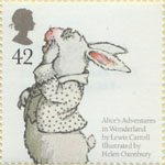 Animal Tales 42p Stamp (2006) 'White Rabbit' from Lewis Caroll's 'Alice's Adventures in Wonderland'