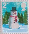 Christmas 2nd Stamp (2006) Snowman