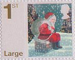 Christmas 1st Large Stamp (2006) Father Christmas on Chimney