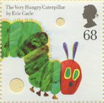 Animal Tales 68p Stamp (2006) The Very Hungry Caterpillar by Eric Carle