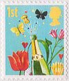 First Class Smilers 1st Stamp (2006) Champagne and Flowers