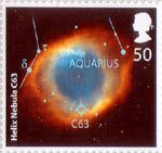 The Sky At Night 50p Stamp (2007) Helix Nebula C63
