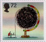 World of Invention 72p Stamp (2007) The Internet