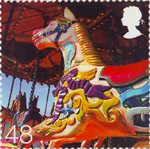 Beside the Seaside 48p Stamp (2007) Fairground Merry-go-round Ride