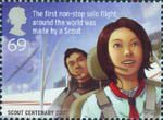 Scouts 69p Stamp (2007) Learning Gliding