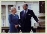 The Diamond Wedding Anniversary 1st Stamp (2007) Royal Family