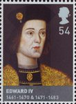 The Houses of Lancaster and York 54p Stamp (2008) Edward IV (1461-70 & 1471-83)