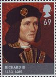 The Houses of Lancaster and York 69p Stamp (2008) Richard III (1483-85)