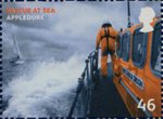 SOS - Rescue at Sea 46p Stamp (2008) Appledore, Devon