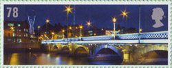 Celebrating Northern Ireland 78p Stamp (2008) Queens Bridge and Friendship Beacon