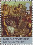 The Houses of Lancaster and York 78p Stamp (2008) Battle of Tewkesbury, 1471 Yorkist Victory