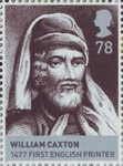 The Houses of Lancaster and York 78p Stamp (2008) William Caxton, 1477 First English Printer