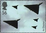 Air Shows 56p Stamp (2008) Avro Vulcan and Avro 707s