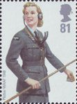 RAF Uniforms 81p Stamp (2008) Plotter WAAF 1940