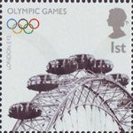 Olympics Handover 1st Stamp (2008) London Eye