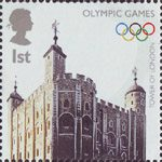 Olympics Handover 1st Stamp (2008) Tower of London