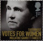Women of Distinction 1st Stamp (2008) Millicent Garrett Fawcett