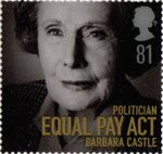 Women of Distinction 81p Stamp (2008) Barbara Castle
