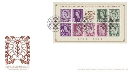 50th Anniversary of the Country Definitives (2008)