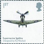 Design Classics 1st Stamp (2009) Supermarine Spitfire by R.J.Mitchell