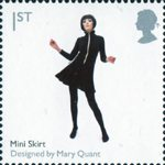 Design Classics 1st Stamp (2009) Mini Skirt by Mary Quant