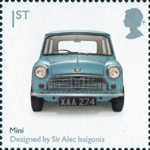 Design Classics 1st Stamp (2009) Mk 1 Austin Mini by Sir Alec Issigonis
