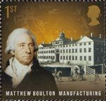 Pioneers of Industrial Revolution 1st Stamp (2009) Matthew Boulton - Manufacturing