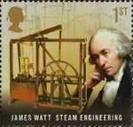 Pioneers of Industrial Revolution 1st Stamp (2009) James Watt - Steam Engineering
