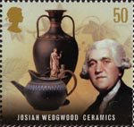 Pioneers of Industrial Revolution 50p Stamp (2009) Josiah Wedgewood - Ceramics