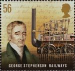 Pioneers of Industrial Revolution 56p Stamp (2009) George Stephenson - Railways