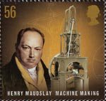 Pioneers of Industrial Revolution 56p Stamp (2009) Henry Maudslay - Machine Making