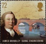 Pioneers of Industrial Revolution 72p Stamp (2009) James Brindley - Canal Engineering
