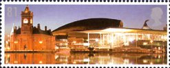 Celebrating Wales - Dathlu Cymru 81p Stamp (2009) National Assembly, Cardiff