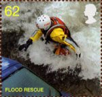 The Fire Service 62p Stamp (2009) Flood Rescue