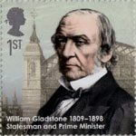 Eminent Britons 1st Stamp (2009) William Gladstone 1809-1898