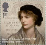 Eminent Britons 1st Stamp (2009) Mary Wollstonecraft 1759-1797
