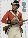 Royal Navy Uniforms 90p Stamp (2009) Royal Marine 1805