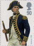 Royal Navy Uniforms 90p Stamp (2009) Admiral 1795