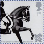 Olympic and Paralympic Games 2012 1st Stamp (2009) Paralympic Games - Equestrian