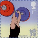 Olympic and Paralympic Games 2012 1st Stamp (2009) Weightlifting